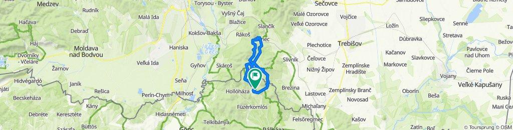 Füzéri vár-Izra tó- Szalánci vár-Nagy Milic-László tanya-Füzér kör