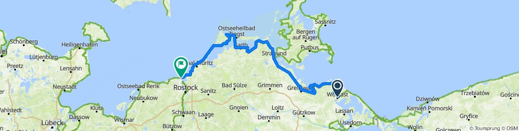 Ostseeküstenradweg GPS-Track