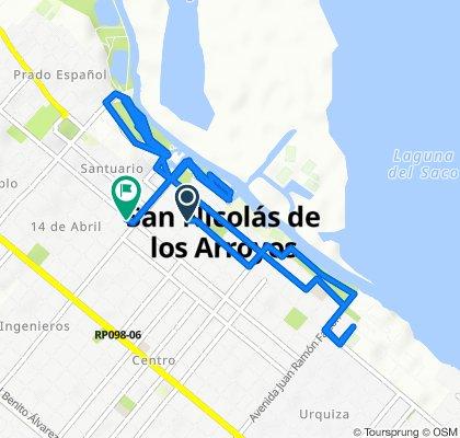 Ruta relajada en San Nicolás de los Arroyos