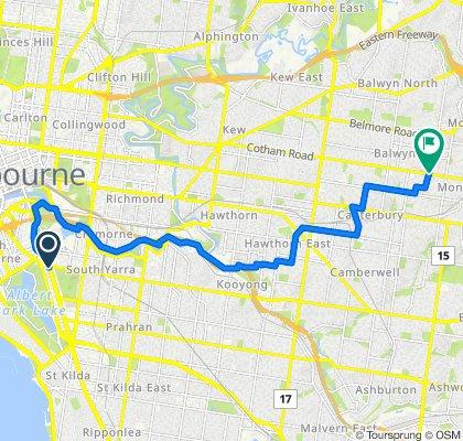 436 St Kilda Road, Melbourne to 551 Whitehorse Road, Balwyn