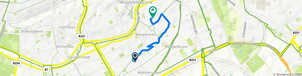 Moderate route in Vienna