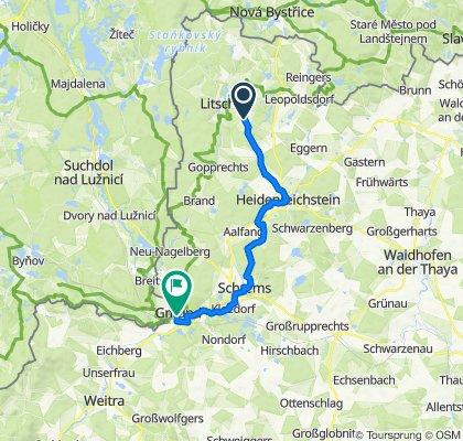 Litschau-Heidenreichstein-Schrems-Gmünd-Tour MTB
