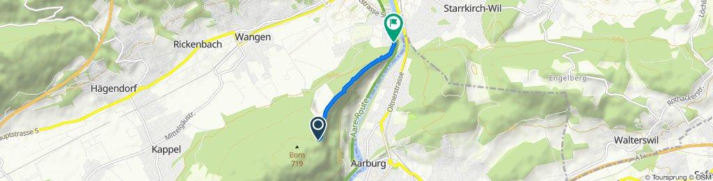 Tschärpisstrasse, Wangen bei Olten nach Born-Gratwanderweg, Kappel