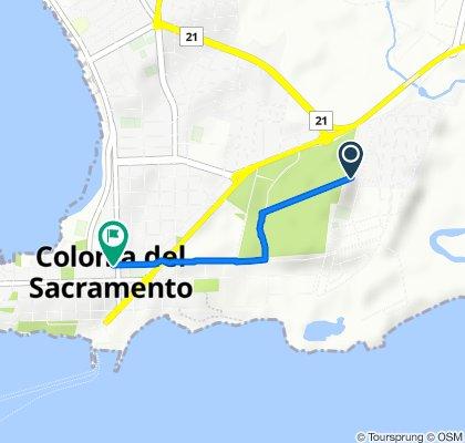 Ruta constante en Colonia Del Sacramento