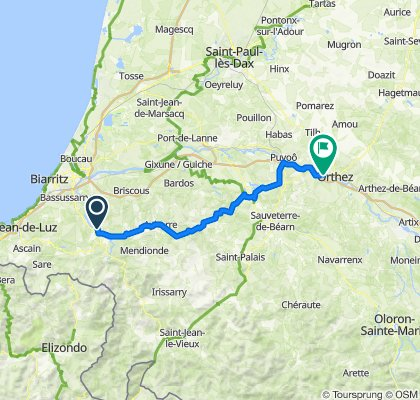 Day 2 - Halsou to Orthez