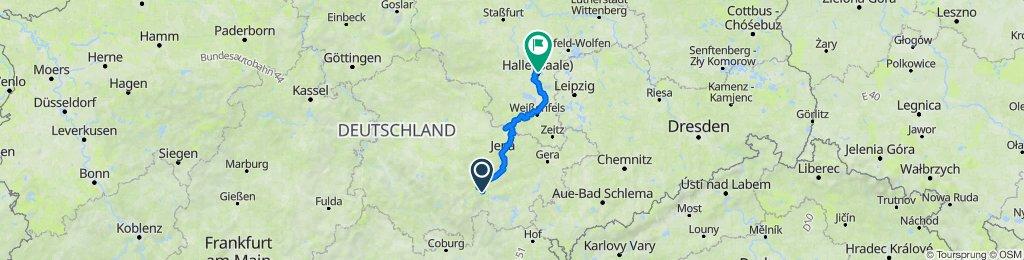 Saaleradtour 2014 on GPSies.com