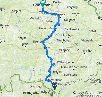Tour (1)  Elsterradweg 2018 on GPSies.com