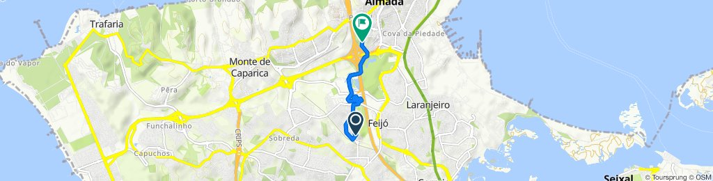 Steady ride in Almada