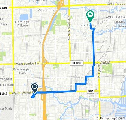 2410 W Broward Blvd, Fort Lauderdale to 230 NE 24th St, Wilton Manors