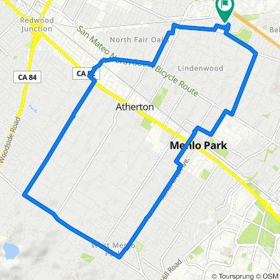 3 Greenwood Pl, Menlo Park to 3 Greenwood Pl, Menlo Park