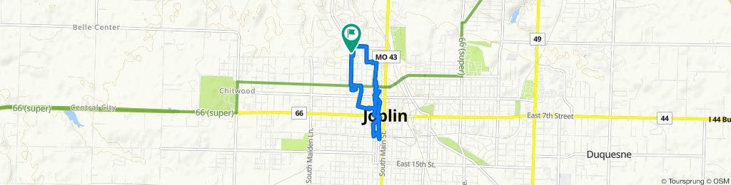 Rode around downtown Joplin, MO