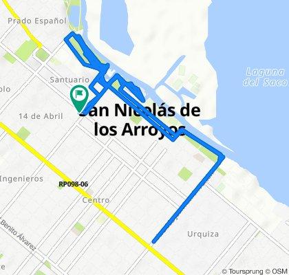 Ruta tranquila en San Nicolás de los Arroyos