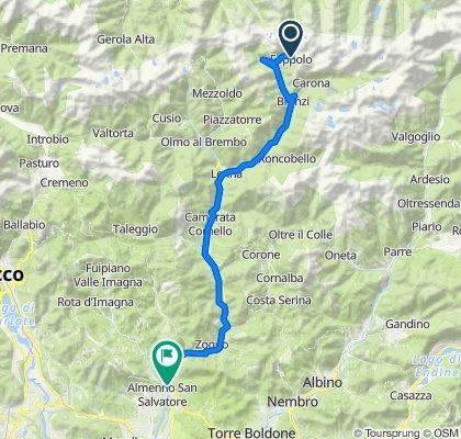 Via Ronchi 81, Foppolo to Via Ponte Clanezzo, Almenno San Salvatore