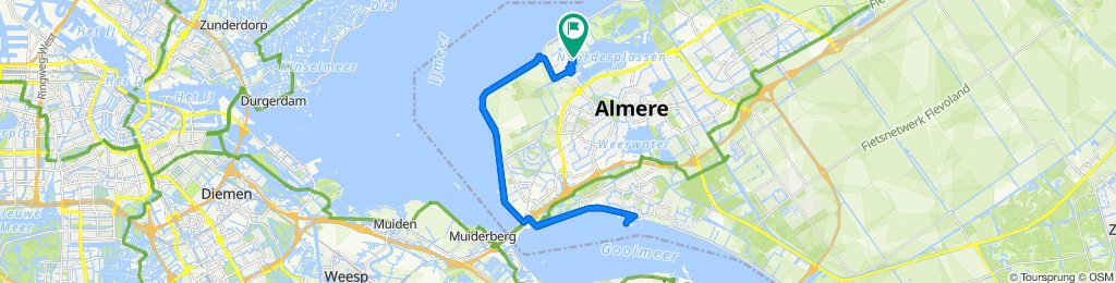 Makkelijke rit in Almere
