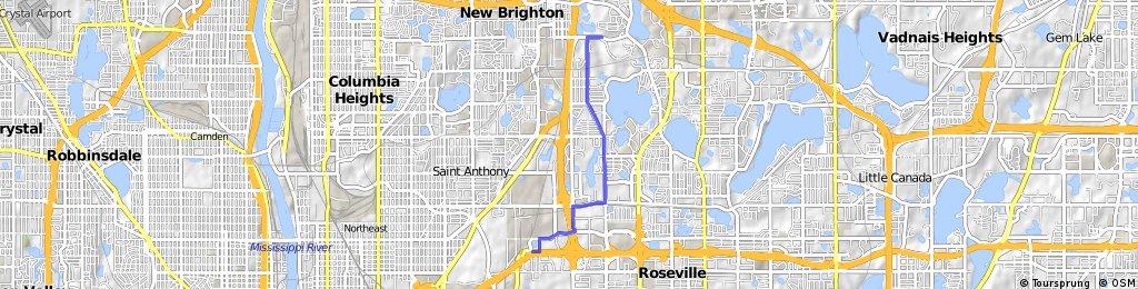 B2B00567 55112>55113 via New Brighton Rd, Fairview Rd, Co Rd C