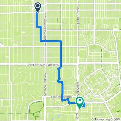 6300–6350 E 13th Ave, Denver to 30 S Quebec Way, Denver