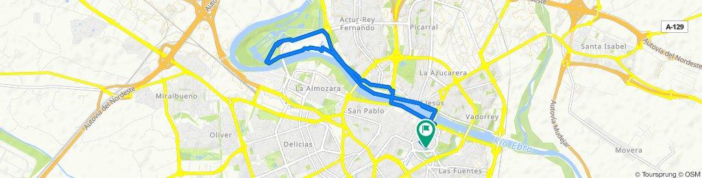 Easy ride in Zaragoza