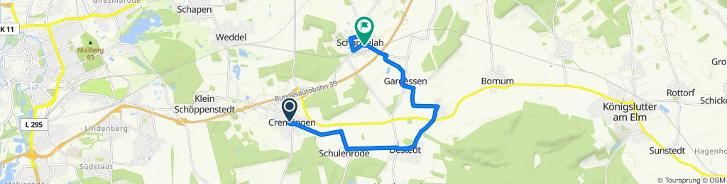 Im Graßhoff 3, Cremlingen to Sandbachstraße 1C, Cremlingen