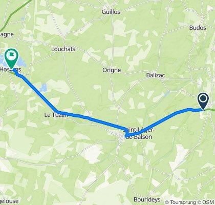 3 Portetenit, Villandraut to 20 Route de Bazas, Hostens