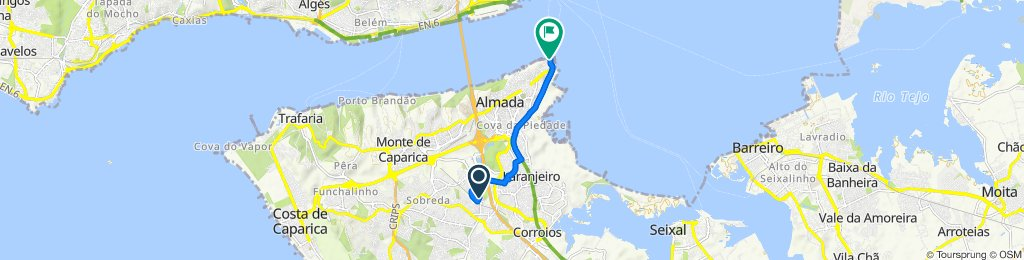 Slow ride in Almada
