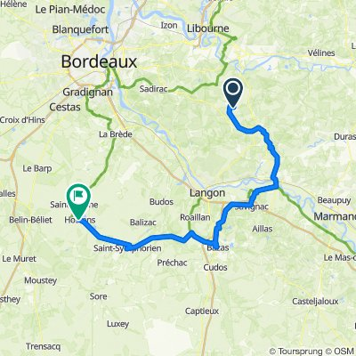 2–10 Rue de Rauzan, Frontenac to 2–6 Route de Bordeaux, Hostens