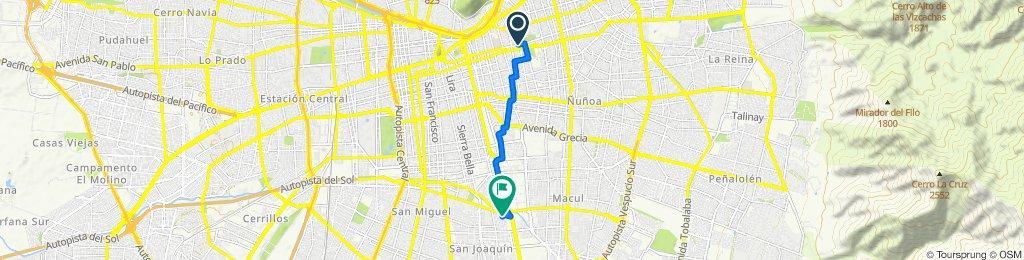 Ruta a casa Nacholga desde Manuel Montt