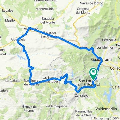 Escorial-Leones-Cruz de Hierro-Las Lanchas-Hoyo de Guija-Robledondo-Escorial