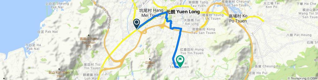 洪水橋青山公路600至大棠山道(與貨櫃車爭路)
