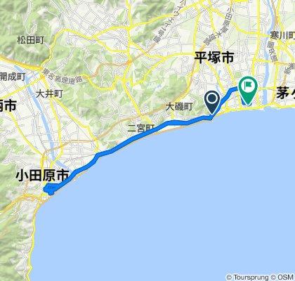950, Oiso, Oiso-Machi, Naka-Gun to 1-34, Sodegahama, Hiratsuka-Shi