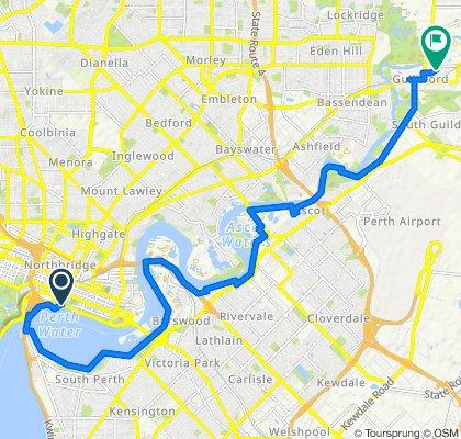 Steady ride in Perth
