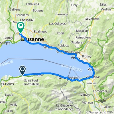 Crissier - Evian via Montreux