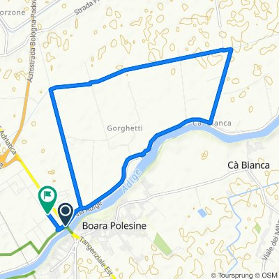 Via Roma, Boara Pisani to Via Alessandro Volta 27, Boara Pisani