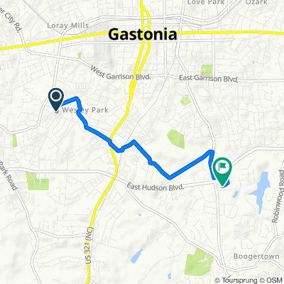 1200 East Dr, Gastonia to 2212 Union Rd, Gastonia