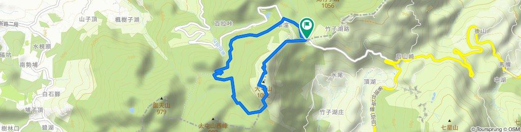 中等級路線 大屯🏔縱走 (20200307)