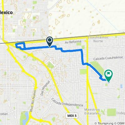 Avenida Álvaro Obregón 1209–1257, Mexicali to Avenida Ignacio Comonfort 307, Mexicali