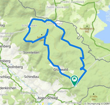 Sonnenwald-Radroute