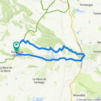 Puebla de obando bikemap1