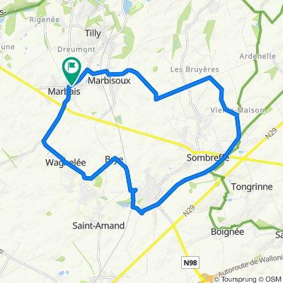 De Rue de Priesmont 50, Villers-la-Ville à Rue de Priesmont 23A, Villers-la-Ville