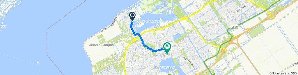 Rustgevende route in Almere