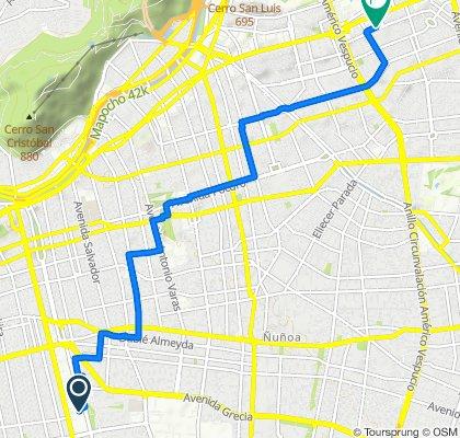 San Eugenio, Ñuñoa to Neveria 4724–4788, Las Condes