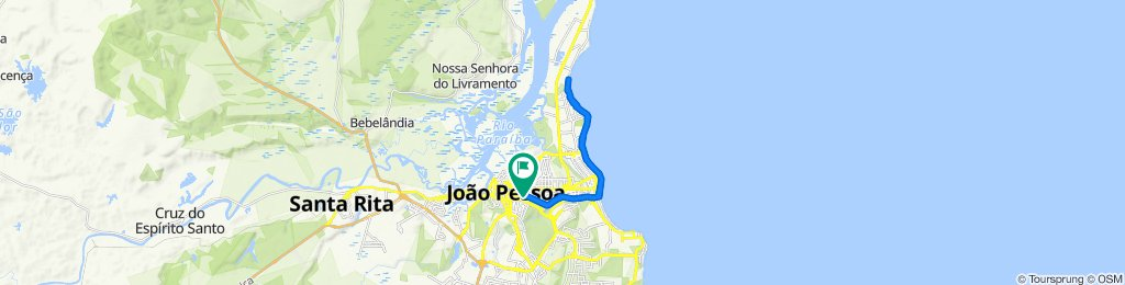 Rua Clarice Justa, 165, João Pessoa to Rua Clarice Justa, 180, João Pessoa