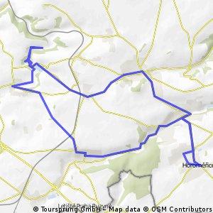 Horoměřice - Černý Vůl - Okoř - Horoměřice