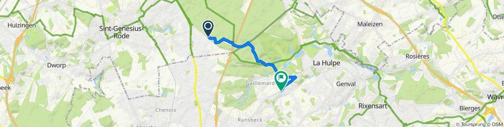 Route to Chaussée de Louvain 660–668, Lasne