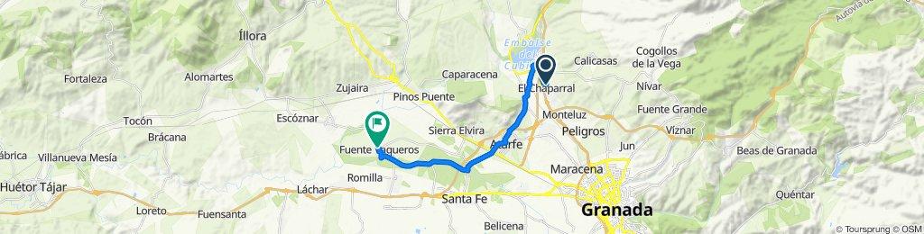 De Calle Gardenia 19, El Chaparral a Paseo del Prado 32, Fuente Vaqueros
