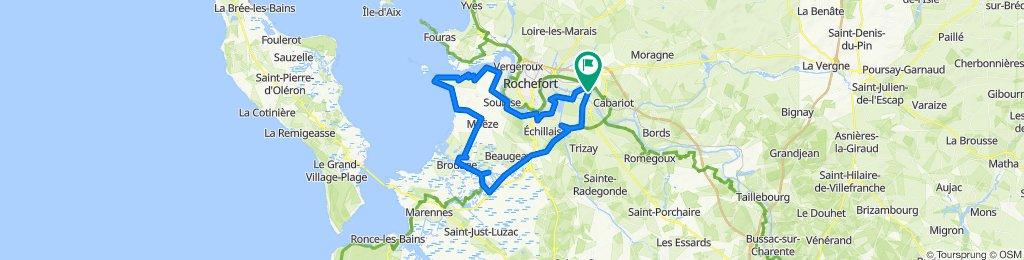 Itinéraire touristique, vue sur les ponts de tonnay Charente, transbordeur et martrou. vue sur l'île madame, la cité de brouage, le bord de mer. tout simplement