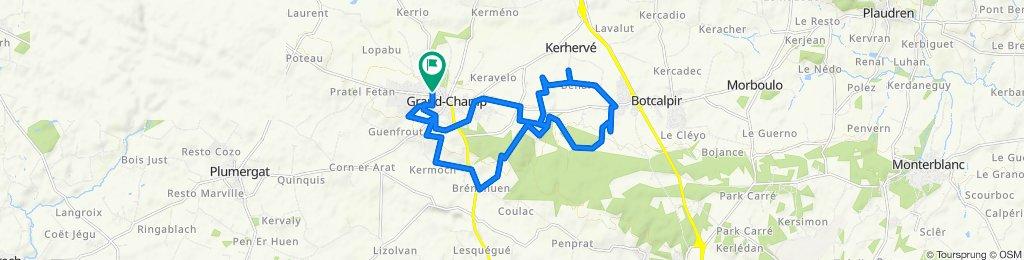Itinéraire facile en Grand-Champ