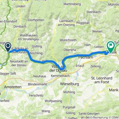 Donauradweg Etappe 3 Grein - Melk
