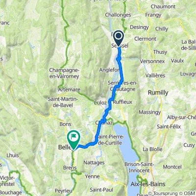 5: ViaRhôna de Seyssel à Belley par Chanaz