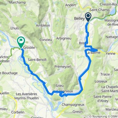 6: ViaRhôna de Belley à Groslée par St-Genix-sur-Guiers