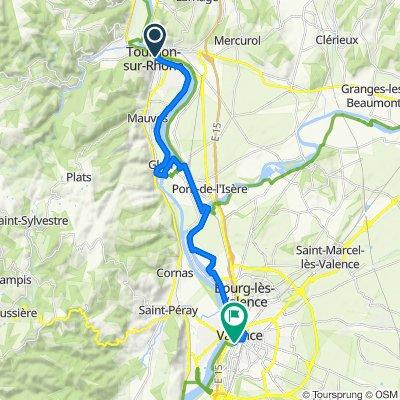 13: ViaRhôna de Tournon-sur-Rhône / Glun à Valence / La Voulte-sur-Rhône